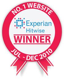 Experian Hitwise No.1 Website Winner