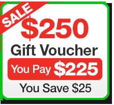 Buy $250 Gift Voucher for $225
